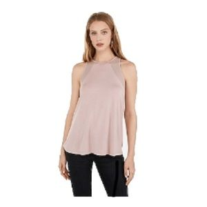 Express One Eleven| Blush Mesh Shoulder Tank | NWT